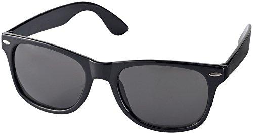 Sun Ray Sonnenbrille - Retro Design - Nerdbrille (schwarz)