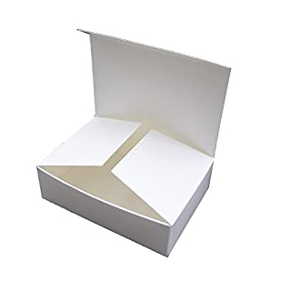 25 x Small White Self Assembly Gift Boxes (Code #G) perfect for mini chocolate boxes, mini fudge boxes, handmade soap boxes, party favours, mini sweetie boxes etc.
