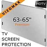 63-65-Zoll-Vizomax TV-Bildschirm-Schutz für LCD, LED und Plasma-HDTV. UV-Schutz, Fernseher-Displayschutz Protector