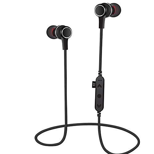 Elospy Bluetooth 4.2 Kopfhörer in Ear, 6 Stunden Spieldauer, Magnetisches Ohrhörer HD Stereo Wireless Headset, für alle Bluetooth Gerät, Unterstützung TF MP3 Flash Memory Card SD-Karte