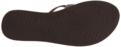 Reef Cushion Wild, Tongs Femmes Marron (Brown)