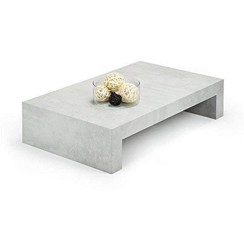 Mobili Fiver, First H21, Table de Salon, mélaminé, Béton, 90 x 54 x 21 cm