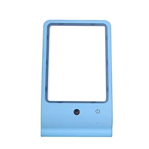 LED-Licht-Make-Up-Spiegel-Spray Feuchtigkeitsspendende Luftbefeuchter Desktop Mit LED-Tischleuchte Drei In Einem Tragbaren Tragbaren Reise-Kosmetikspiegel WUHX,Blue