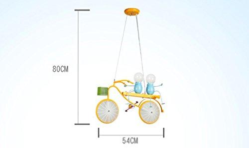 Kronleuchter zu Hause personalisierte Kronleuchte Persönlichkeit Fahrrad Kind Kronleuchter Schlafzimmer Jungen-Raum-Leuchten Moderne Minimalist Kreative LED-Leuchten - 6