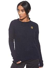 Tommy Hilfiger Damen Th Essential Cable C-nk SWTR Sweatshirt
