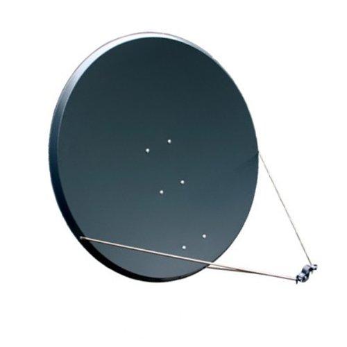 Antenne PremiumX PXS125 Stahl 125 cm, Digital Sat Schüssel Spiegel in Anthrazit FULLHD HDTV 3D Tauglich NEU