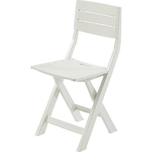L&M Chaise de Jardin Gilda en Plastique (résine) Blanc