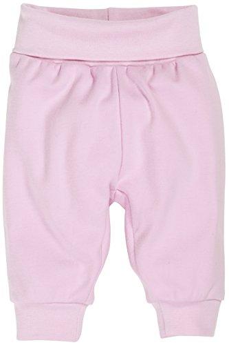 Schnizler Baby - Mädchen Hose Jogginghose, Babyhose mit elastischem Bauchumschlag, Oeko - Tex Standard 100, Gr. 50, Rosa (rose 14) (Baby-mädchen-hose)