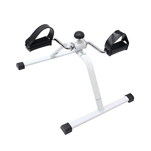 EXEFIT pedal ejercitador Oficina estacionaria bicicleta ejercicios de bicicleta de ciclismo médica para los brazos y las piernas,con alfombra antideslizante (blanco)