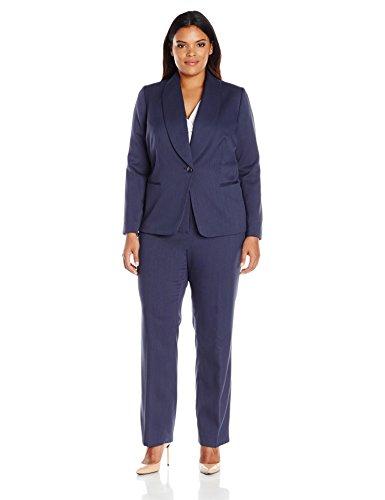 Tahari by Arthur S. Levine Women's Plus Size Novelty One Button Pant Suit