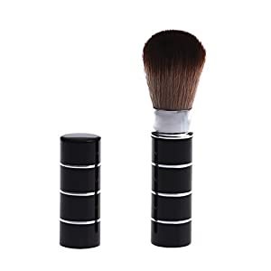Generic C: Women' s Fashion Retractable Metal Brush Cosmetic Makeup Brushes Powder Foundation Blusher Brush Tool #Y