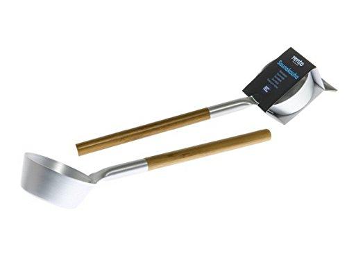 Rento Saunakelle - Saunalöffel - Aluminium mit Bambusgriff - Silber
