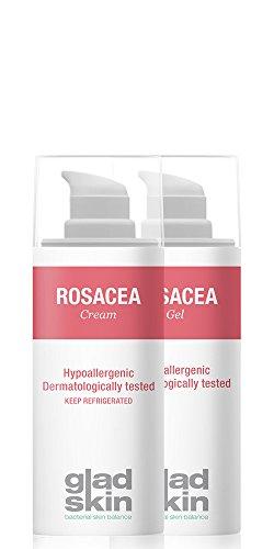 Gladskin Rosacea Gel & Cream 30ml (Kombi-Packung) – lindert Rötungen und beugt neuen Entzündungen vor