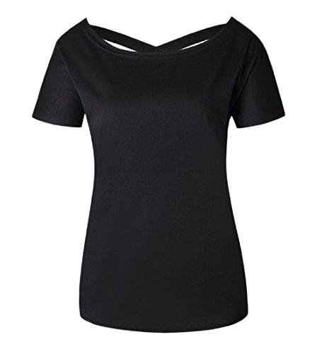 Tootlessly-Women Damen Bluse Gr. Medium, schwarz