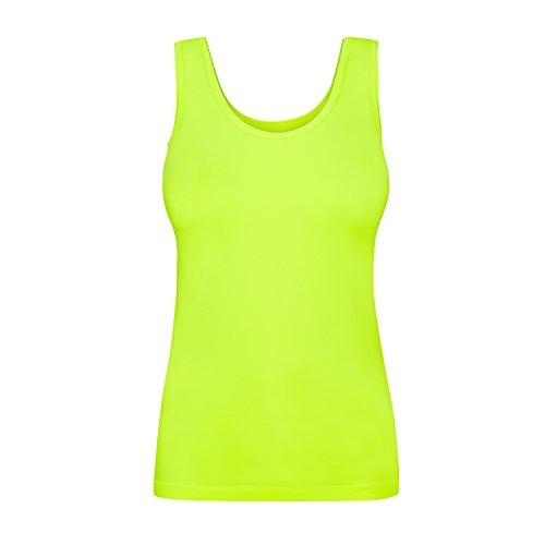 Assoluta Damen Tank Top, Größe XL, Neon Gelb