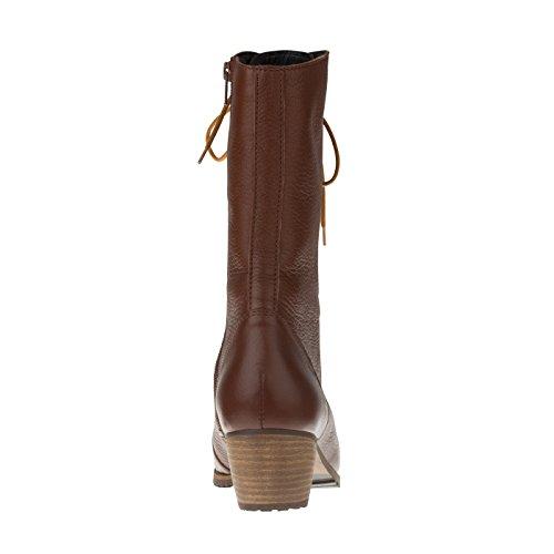 tessamino Damen Stiefel aus Hirschleder, schick, Weite H, für Einlagen Braun