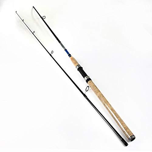 YUGANHUANGK 99% De Carbono 2.1M 2.4M 2.7M 2 Secciones Caña De Pescar con Señuelos Suaves Peso 3-50G Caña De Pescar Giratoria para Señuelos De Pesca