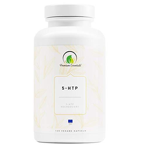 5-HTP | Vegane Kapselform | 5-Hydroxytryptophan (Vegan) ULTRA HOCHDOSIERT | Griffonia Samen Extrakt | UNTERSTÜTZUNG FÜR DEN SEROTONIN-SPIEGEL (120) -