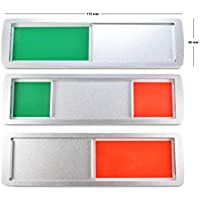 SynMe Gran Cartel Deslizante Libre/Ocupado - Neutro: Verde/Rojo - 175 x 50 mm - Superficie Adhesiva 3M en la Parte Posterior - 4 imanes Integrados en el Marco, asegurando la Unidad Deslizante (1)