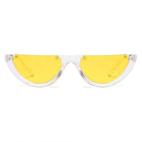 Sonnenbrille Frauenpersönlichkeit Retro Art und Weise, Bunte Gläser des halben Rahmens UVgläser für Reise-Partei-schicke reizvolle Dame Cosplay