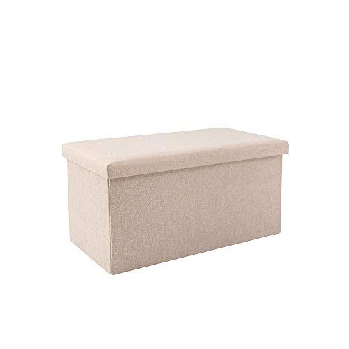 SLIANG Storage Box Storage può Essere Seduto Shoe Bench Pieghevole Multifunzione Famiglia Tessuto Rettangolare Grande capacità in Grado di sopportare Fino a 150 kg