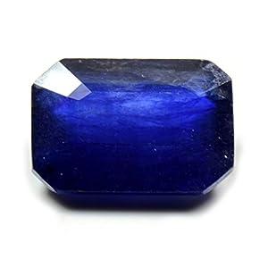 55 Karat natürlicher Blauer Saphirstein, Smaragdschliff, facettiert, Geburtsstein September