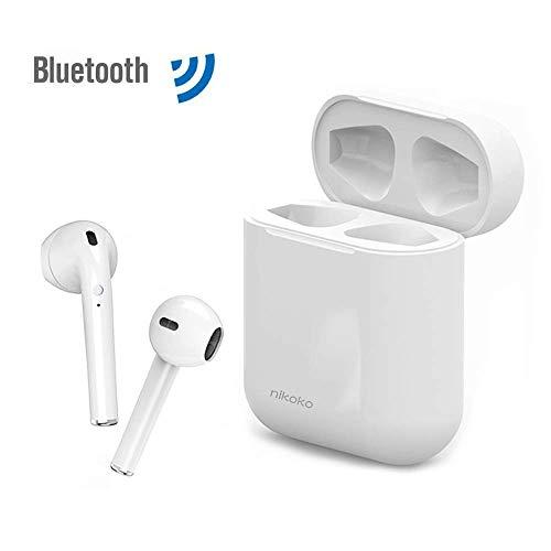 Nikoko Auriculares Bluetooth Inalámbricos, Mini Auriculares Inalámbricos Bluetooth 5.0, Auriculares con Micrófono para Moviles 150H en Espera Compatible con Moviles Android iOS