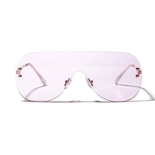 LAMAMAG Sonnenbrille Übergroße Sonnenbrille Frauen Sonnenbrillen für Frauen Braun Schwarz Rot Orange Eyewear Uv400, G