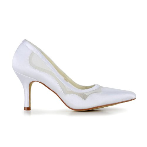 Jia Jia Wedding A3131 Scarpe Sposa Scarpe col tacco donna Bianco