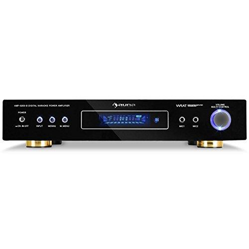 Auna AMP-9200-S • Amplificatore Surround • Ricevitore a 5.1 Canali • Sistema HiFi • Potenza 600W Max. • 2 Ingressi RCA Stereo • 2 Ingressi Anteriori per Microfono • Colore Nero