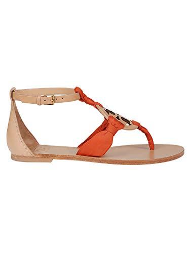 Tory Burch Damen 56475266 Orange Leder Sandalen
