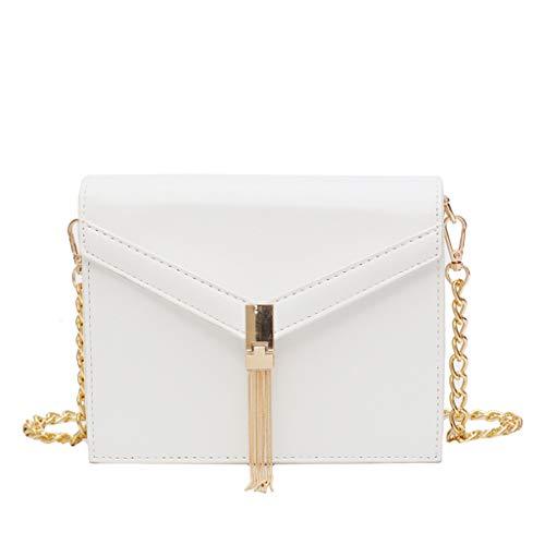 Mitlfuny handbemalte Ledertasche, Schultertasche, Geschenk, Handgefertigte Tasche,Frauen Quaste Fashion Trend Wild Umhängetasche Messenger Bag