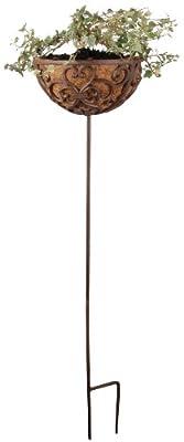 Esschert BPH35 design, Gußeisener Korb auf Stab L, 30 x 30 x 136,5 cm von Esschert - Du und dein Garten