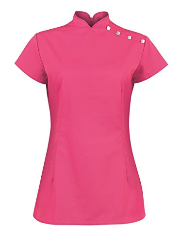 NEW ALEXANDRA Donna posteriore nascosto cerniera laterale Vents Stand Colletto Beauty tunica Bright Pink 84 cm- 86 cm-42