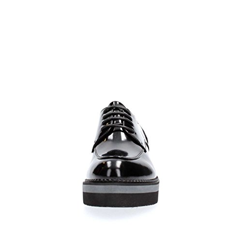 CAFèNOIR Cafè Noir CAF Noir EF131 Schwarz Derby Schuhe Frauenplattform Lederriemen Nero