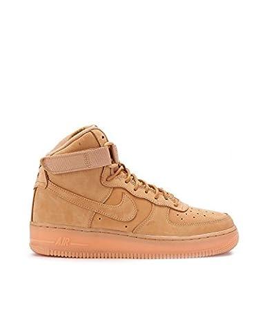 Nike Air Force 1 High LV8 (GS), Chaussures de Sport-Basketball Garçon, Marron-Marrón (Flax / Flax-Outdoor Green), 38 1/2 EU