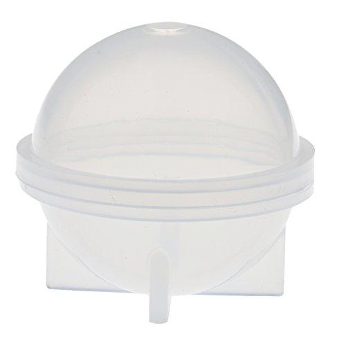 Homyl Moule en Silicone Forme Sphérique DIY Artisanat - Blanc 40mm