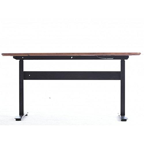 Buro fitness Highriser Luftbrücke verstellbar Schreibtisch, Grey Frame, White Desktop 1500x610 (White X-frame Schreibtisch)