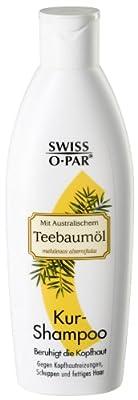 Swiss-o-Par Teebaumoel Kurshampoo - Das Teebaumoel pflegt Haar und Kopfhaut mit natuerlichen Pflanzenextrakten und schuetzt sie gleichzeitig vor schaedlichen Umwelteinfluessen. 3er Pack (3 x 250 ml)