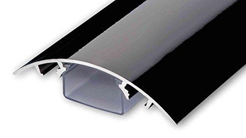 TV Design Aluminium Kabelkanal in schwarz Hochglanz lackiert in verschiedenen Längen von ALUNOVO (Länge: 60cm)