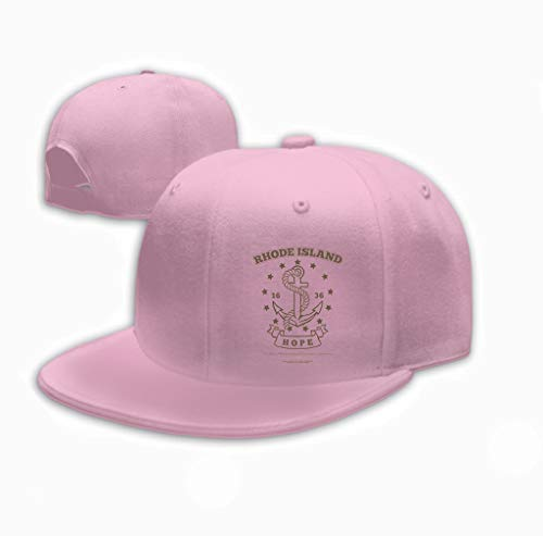 Classic Cotton Dad Hat Adjustable Plain Cap Custom Denim Baseball Cap for Adult Anchor Rope Hope Design Elements Print Rhode Island Pink