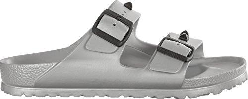BIRKENSTOCK Damenschuhe Arizona Eva Stud aus Eva, Badeschuh, mit softem Fußbett, Silber (Silver), EU 44, Normal