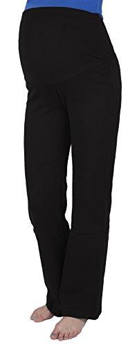 Mija - Schwangerschaftshose / Yogahose mit extra Bauch-Panel / Umstandsmode 3010 Schwarz / Kurz