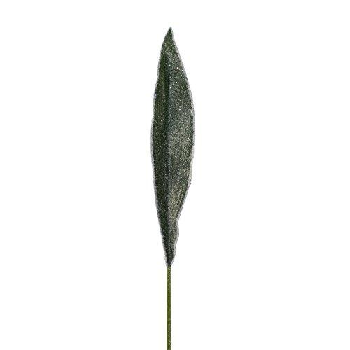 Künstliches Aspidistrablatt geeist, Schusterpalme Kunststoff 92 cm