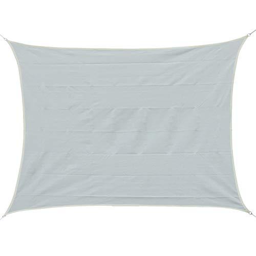 Outsunny Voile d'ombrage rectangulaire 3 x 4 m polyéthylène Haute densité résistant aux UV Coloris crème