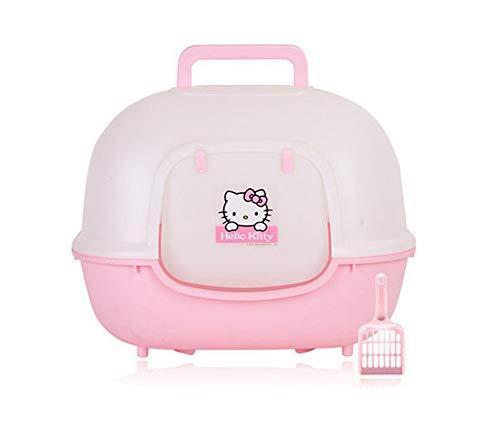 Petsmat Katzenklo Mit Haube Geschlossen + Streuschaufel Katzen Klo Wc Katzentoilette Toilette,pink (Deckel Mit Katzenklo Selbstreinigend)