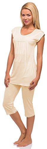 Merry Style Damen Schlafanzug Modell 978 Lachs
