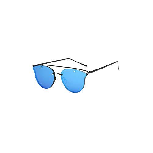 TrifyCore Lunettes de soleil Aviator femmes polarisants Métal Miroir Lunettes de soleil lunettes de protection UV Noir Frame Argent Objectif