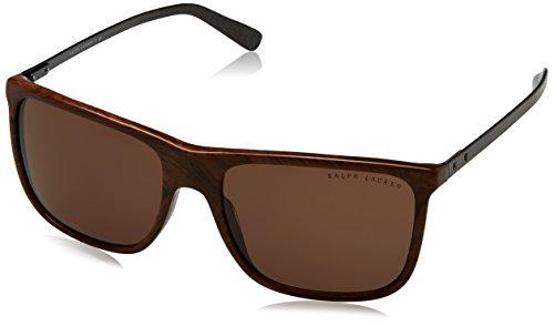 Ralph lauren 0rl81579973, occhiali da sole uomo, marrone (briar roots vintage effect/brown), 58