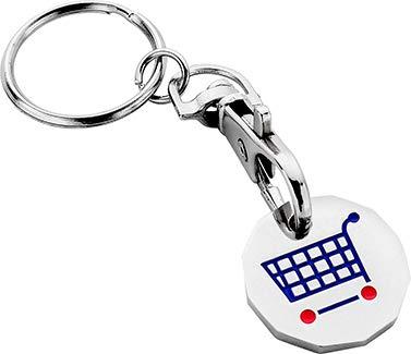 Einkaufstrolley £1 Münze Gym locker Schlüssel False Fake One Pound Coin Token Chip für Tesco Aldi Waitrose Supermarkets Shopping Trollies Körbe keine Notwendigkeit für Geld